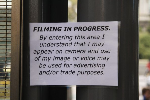 Filming in Progress Sign Template